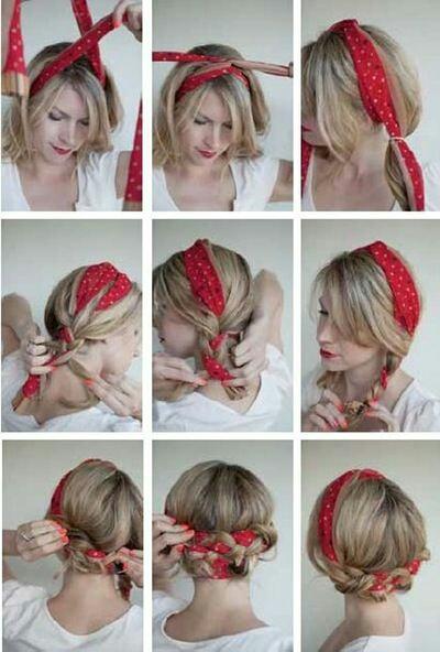 Прическа с шарфом (diy)