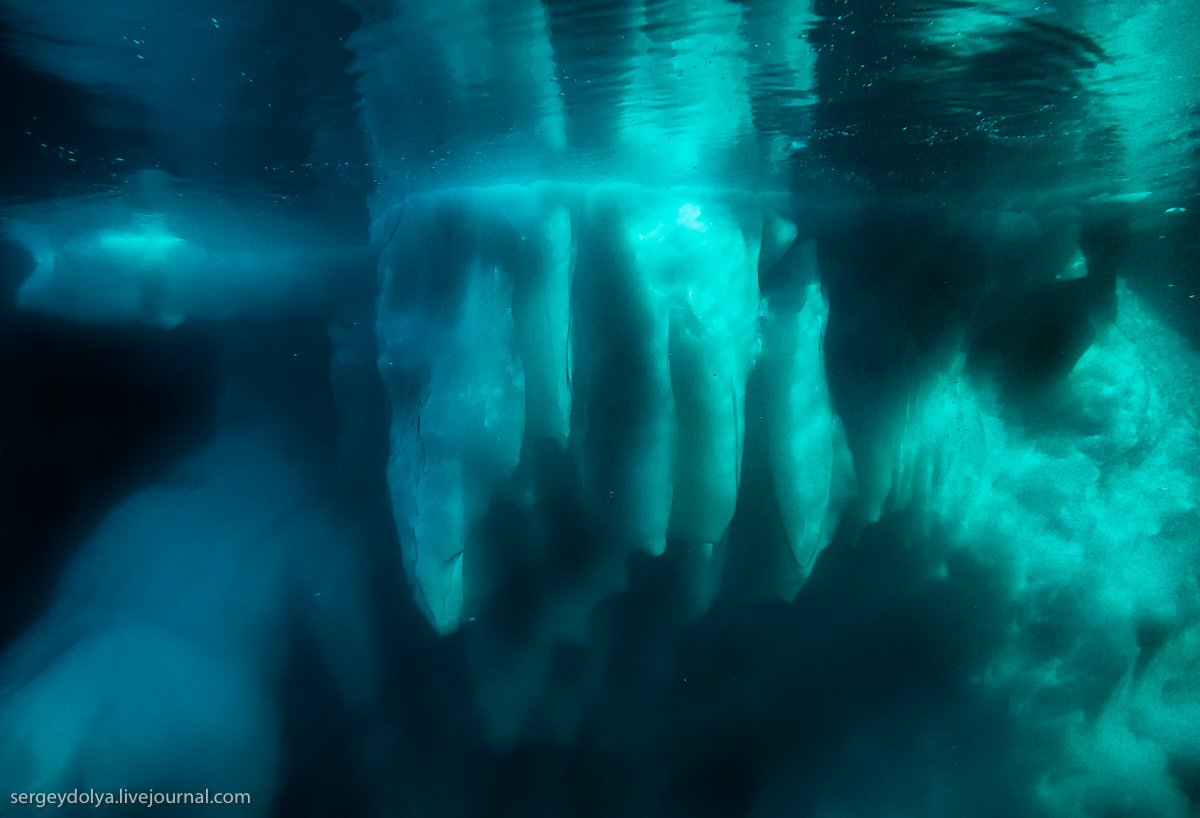 Как выглядит айсберг под водой