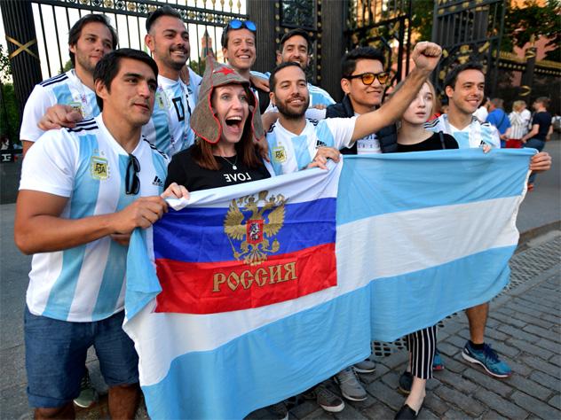 Аргентинцы влюблены в Россию после ЧМ по футболу