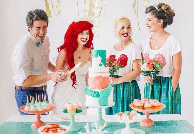 «Русалочка» со счастливым концом: свадьба в стиле мультфильма Диснея