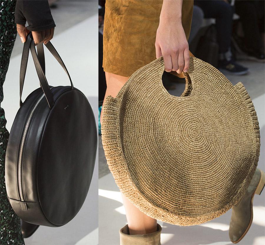 Большие круглые сумки 2019