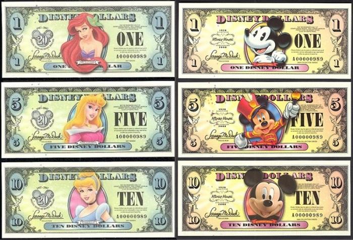 Диснеевские доллары./Фото: antikvar77.com