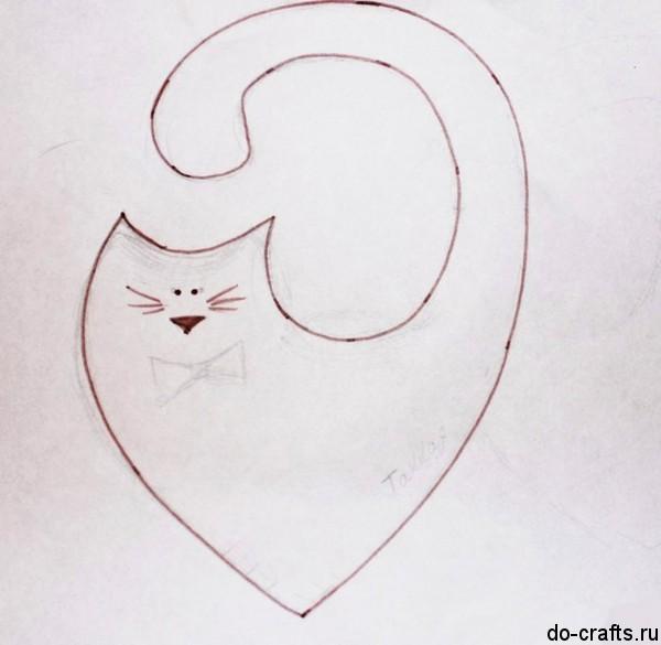 Валентинки коты своими руками