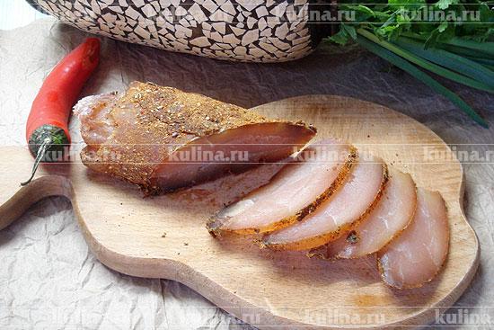 Бастурма из курицы — вкусная и праздничная закуска