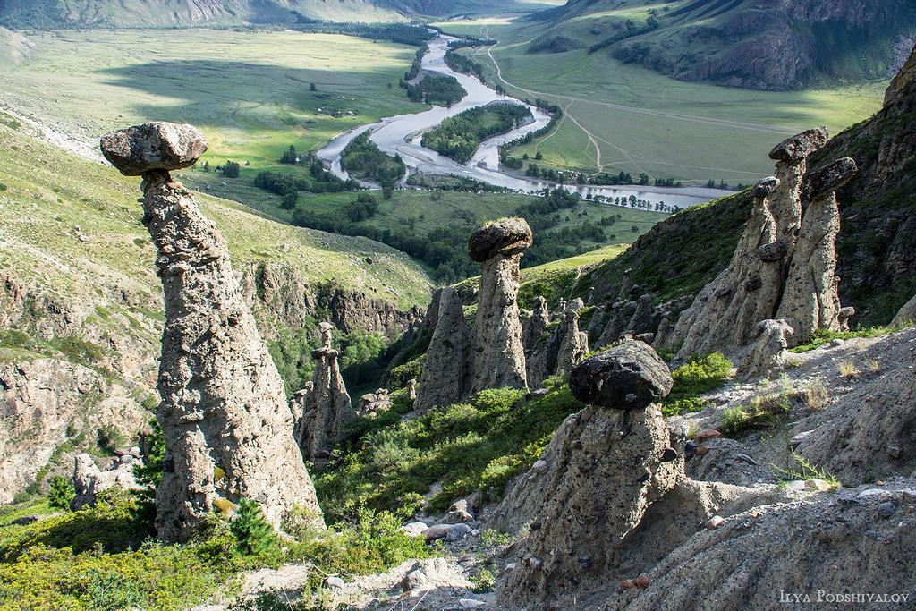 Красоты России. Каменные грибы