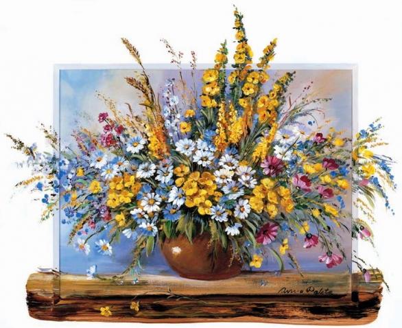 Замечательные полевые цветы художницы Anna Paleta