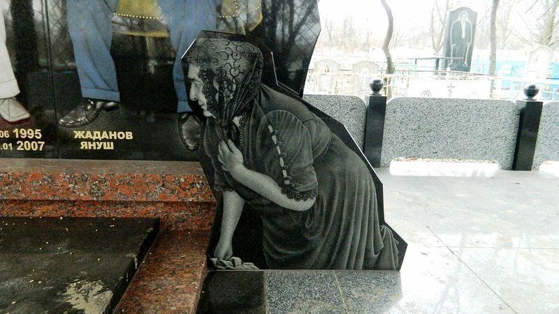 Цыганское кладбище в Донецке