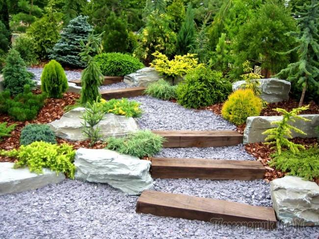 Ландшафтный дизайн двора своими руками фото