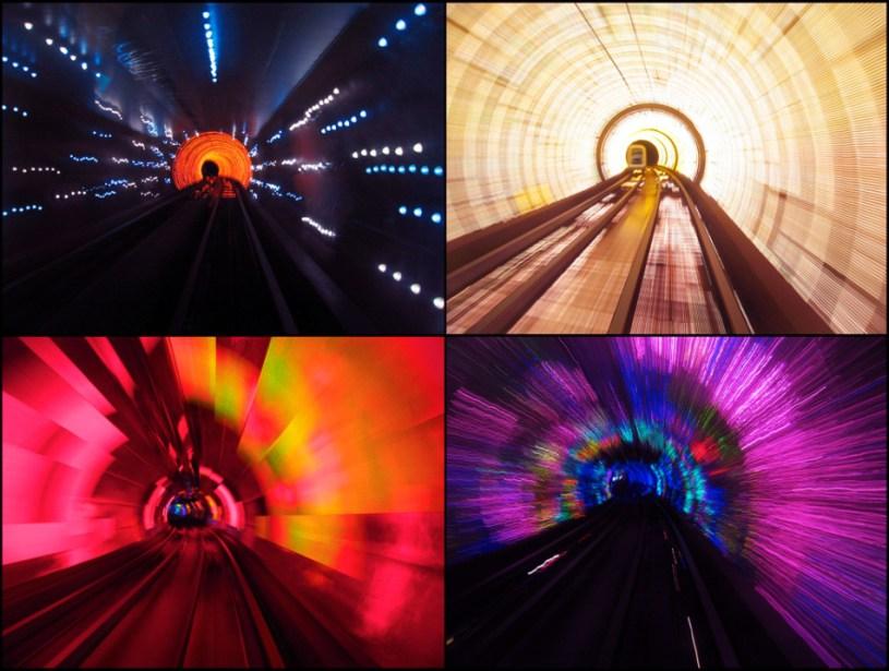 3D световое шоу в тоннеле Бунд.
