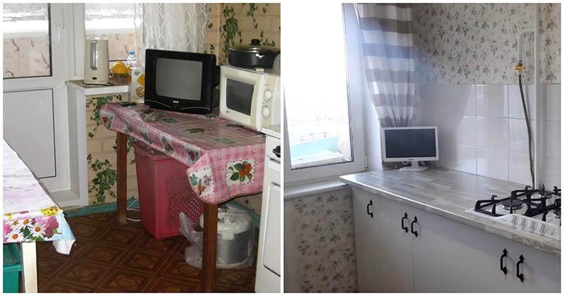 Бюджетный ремонт на кухне 7 кв. м. в квартире-брежневке своими руками
