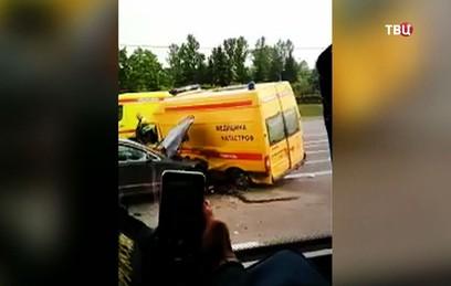 В результате крупного ДТП на Кутузовском проспекте пострадали шесть человек