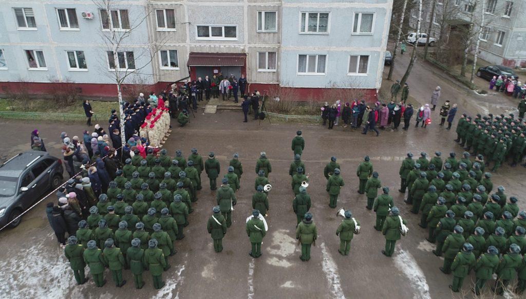 В деревне Богородицкое прошел настоящий военный парад для одного ветерана