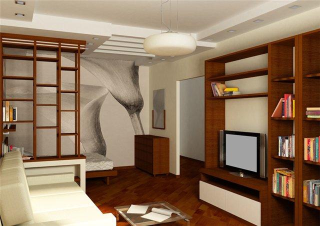 Фото интерьер 1 комнатной квартиры