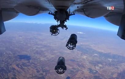 Видео ударов ВКС России по главарям террористов ИГ в Сирии