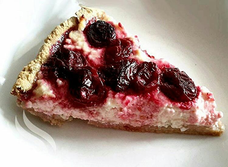Бесподобный тарт с творогом и вишней