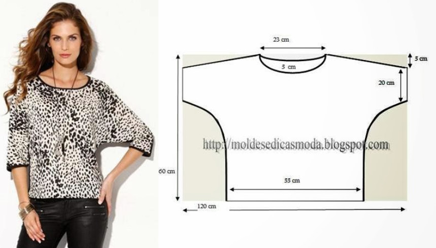 Сшить свободную блузку своими руками для полных