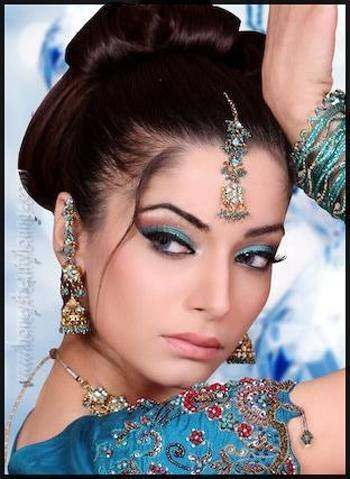 Восточный макияж — техника и примеры