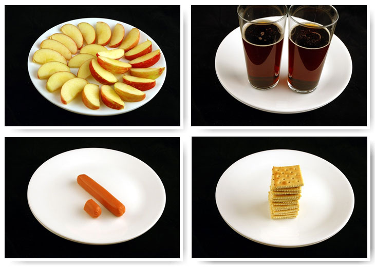 200 калорий из продуктов
