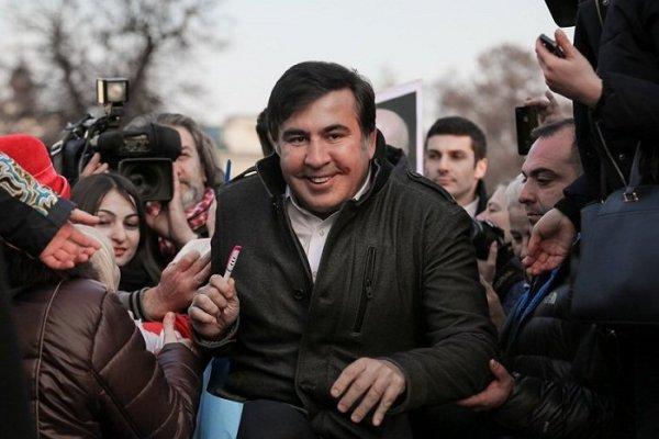 Михаил Саакашвили проводит «Марш за импичмент Порошенко» в столице Украины