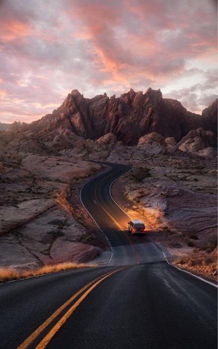 Дорога в неприступных горах.