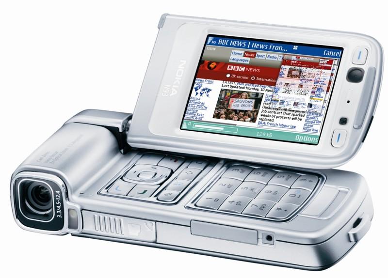 Nokia N93 нокиа, ностальгия, смартфоны, странные телефоны, телефоны