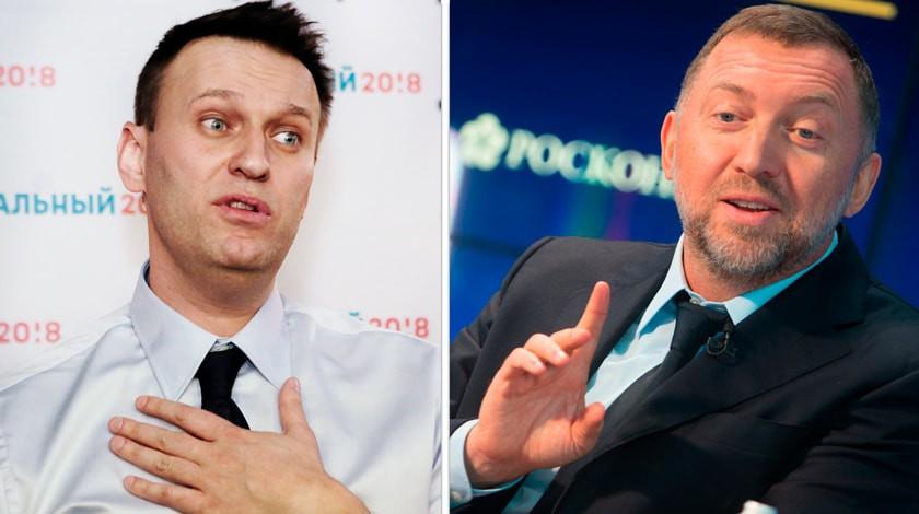 Навальный бросил вызов Дерипаске: Скажите, где ложь?