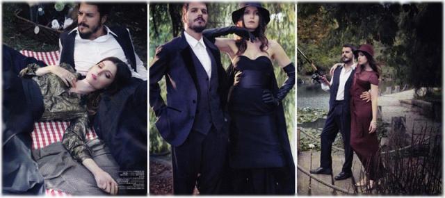 Неожиданная пара: актеры сериала «Великолепный век» в турецком Vogue