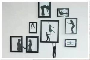 Оформляем стены чёрно-белым панно