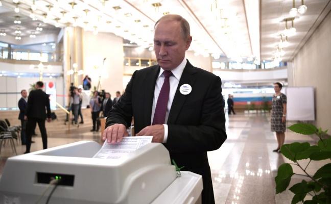 Президент России проголосовал навыборах мэра Москвы
