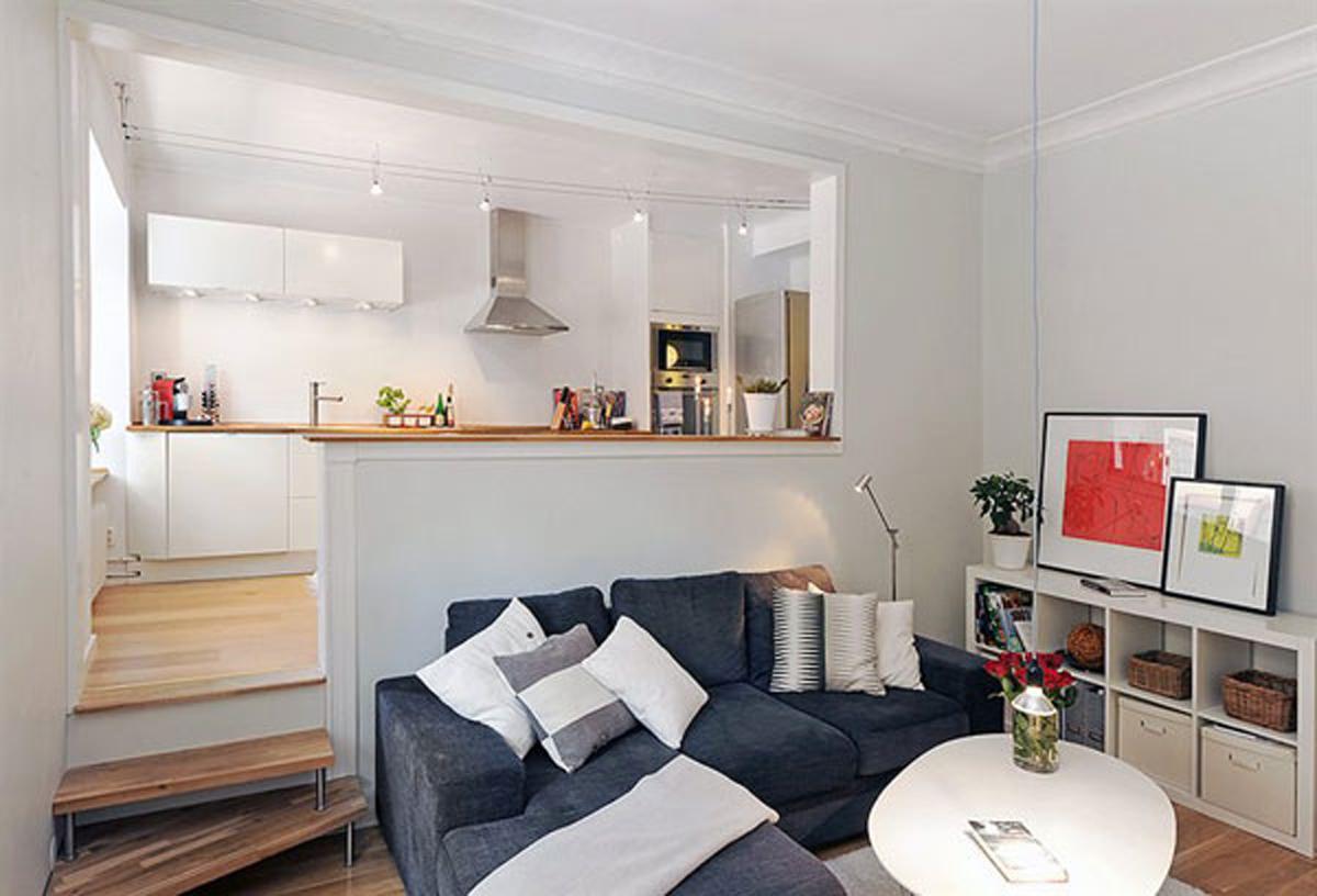 Дизайн однокомнатной квартиры 35 кв.м фото зонирование