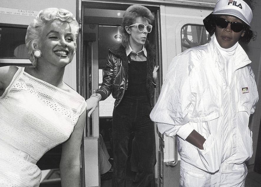 От Боуи до Уитни Хьюстон: как звезды учат нас оставаться стильными в путешествиях