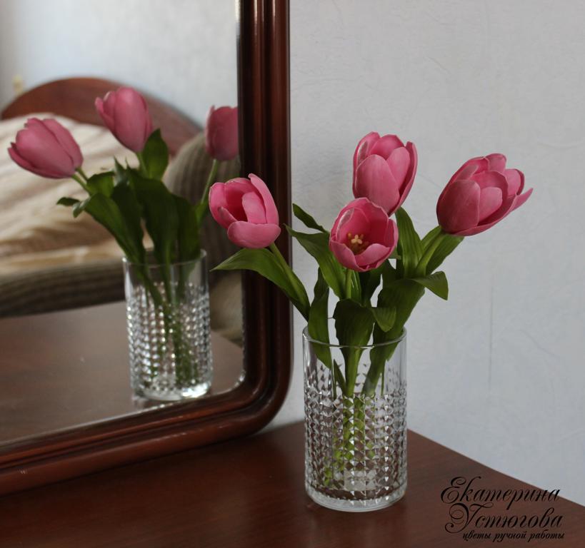 Тюльпаны и зполимерной глины