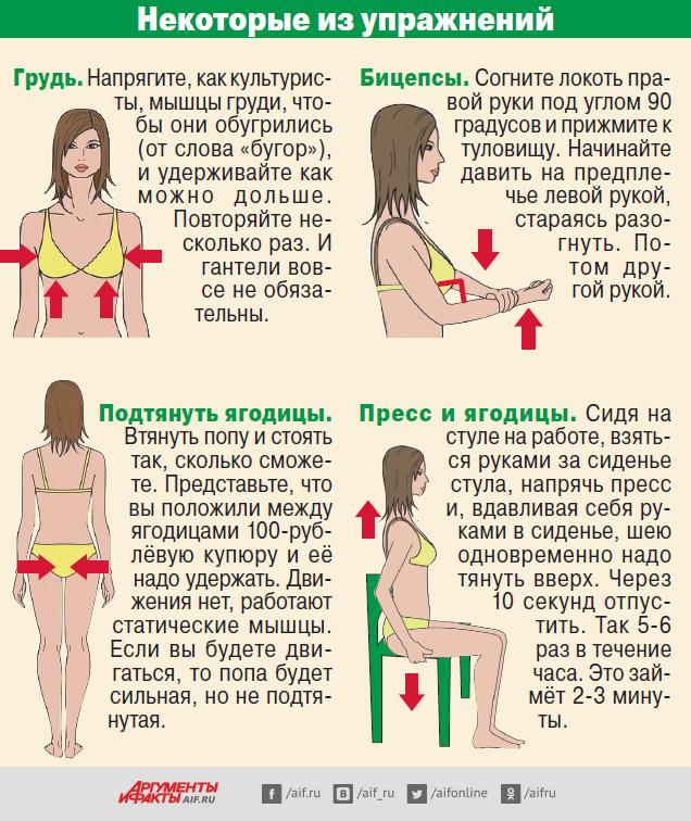Как подтянуть руки девушке в домашних условиях