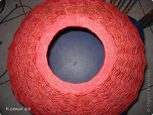 Мастер-класс по плетению из газет: Абажур