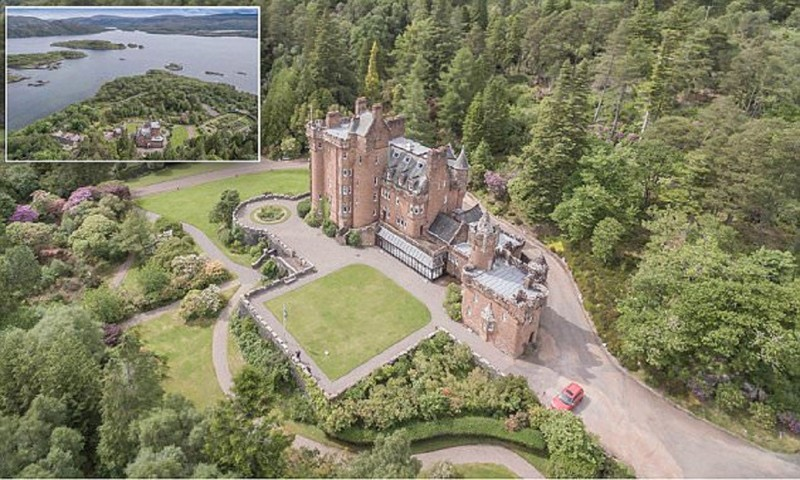 Шотландский замок с собственными островами ищет хозяина арднамурхан, выгодная покупка, гленборродейл, замок, недвижимость, продается остров, продажа, шотландия