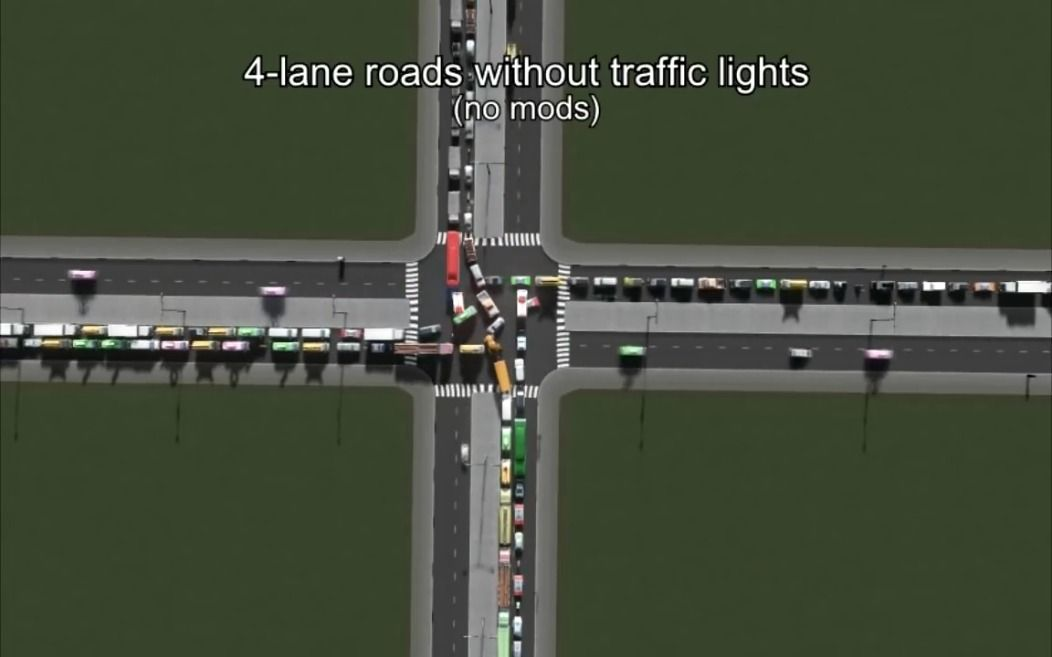 Различные виды перекрёстков и их пропускная способность
