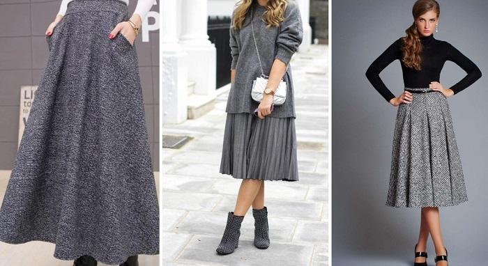модные юбки из трикотажа