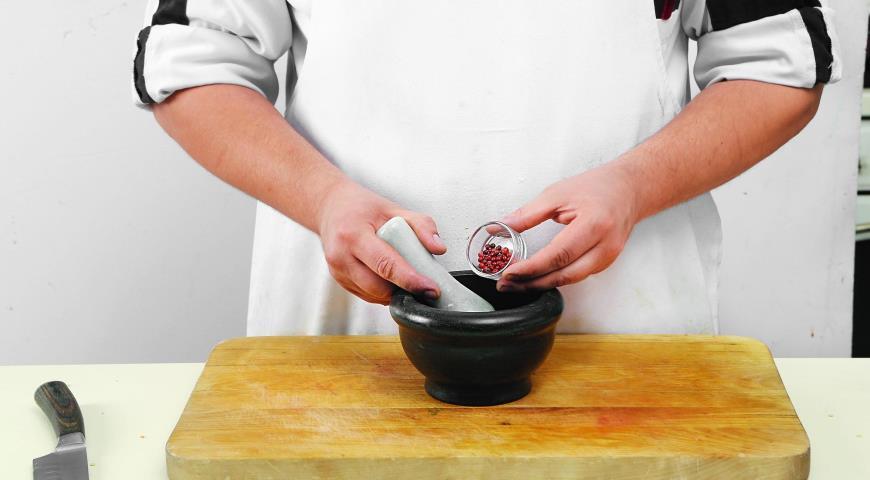 Салат из грейпфрутов с мятой. Шаг 6