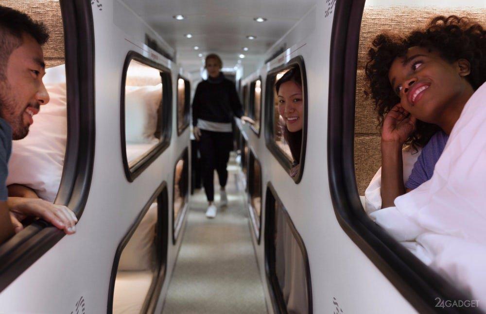 Путешествие с комфортом: в Америке курсируют автобусы с кроватями