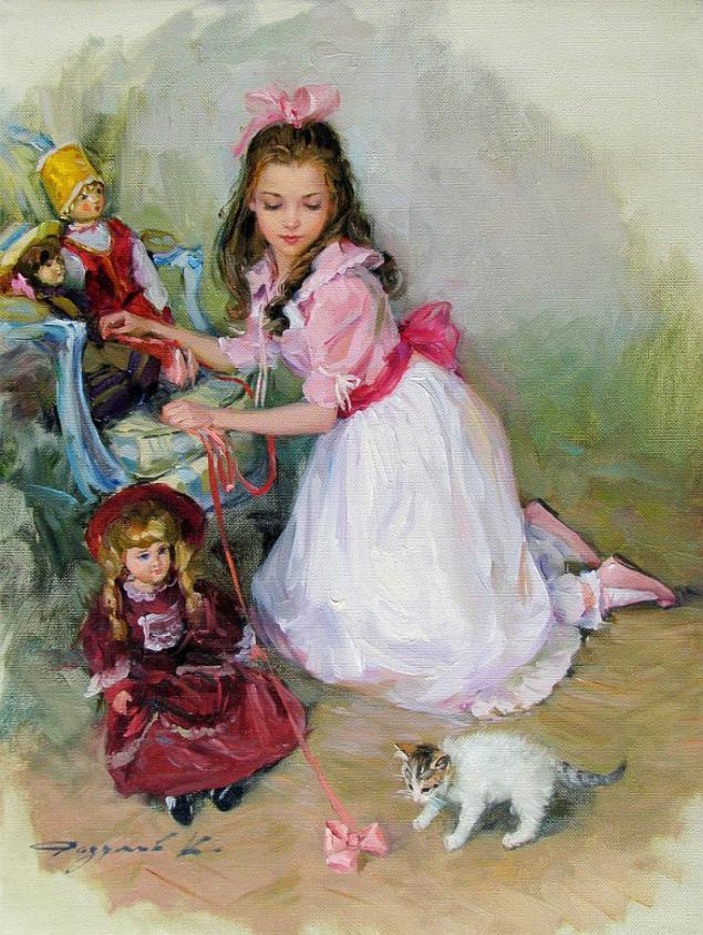Прелестные девочки с картин Константина Разумова