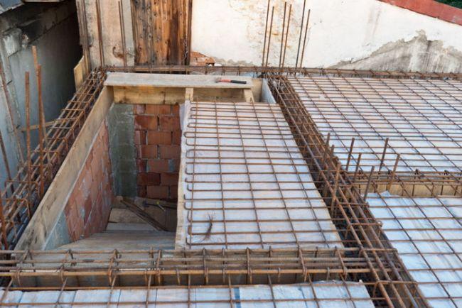 Заливка межэтажного перекрытия