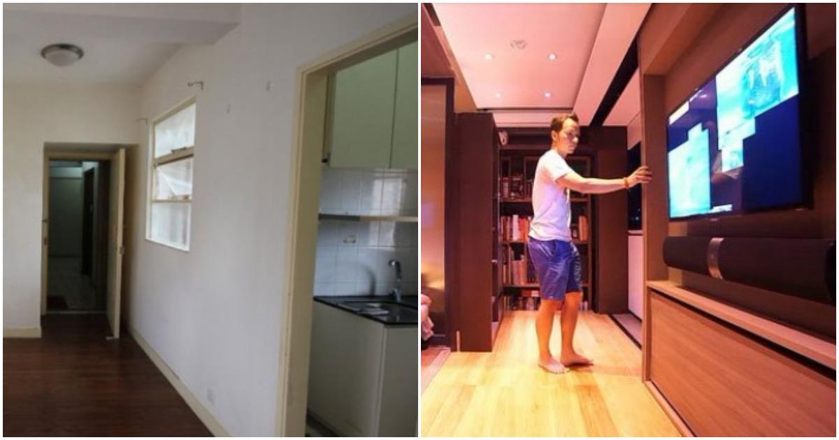 Пара купила мини-квартиру 28 кв м. Архитектурное бюро сотворило небольшое чудо, трансформация была радикальной