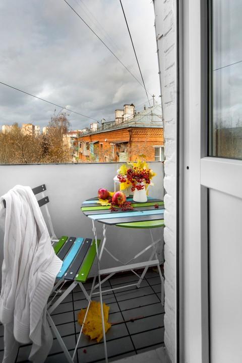 Типичная московская «хрущевка» переделана в студию