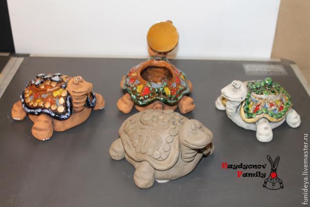 Мастер-класс: черепаха-шкатулка из глины