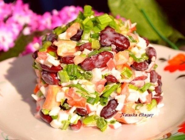 Салат из фасоли «Остренький»…