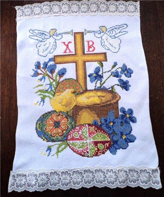 Пасхальная вышивка на рушнике