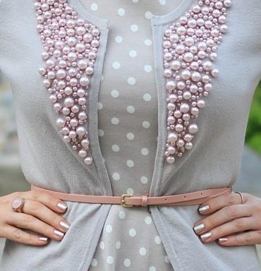 Декор одежды бусинами, бисер…
