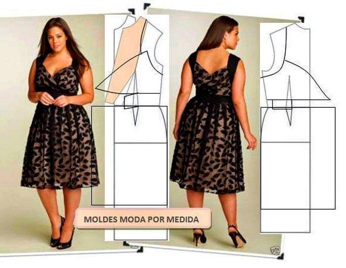 Фасоны платьев для полных сшить самим