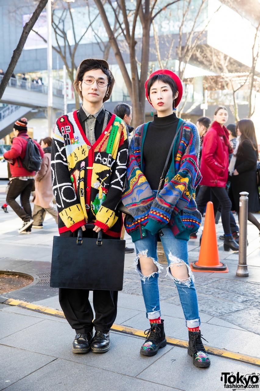 Весенние наряды японских модников на улицах Токио