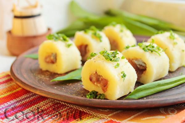 Картофельные «РОЛЛЫ» с селед…